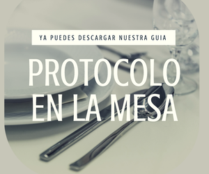 Guía protocolo en mesa