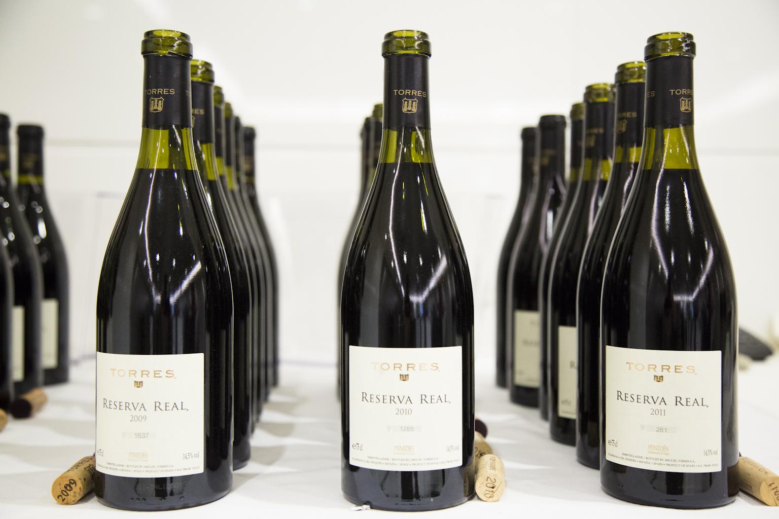 Cata vertical vino Reserva Real de Bodegas Torres